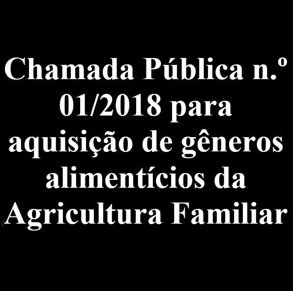Chamada Pública 001/2018