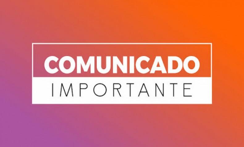COMUNICADO SEC. MUNICIPAL DE EDUCAÇÃO